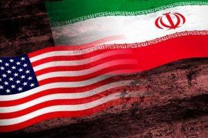 علم اميركا و إيران