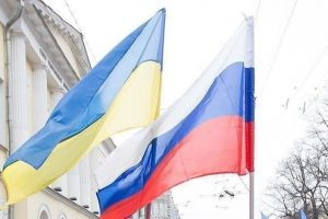 علم روسيا و أوكرانيا