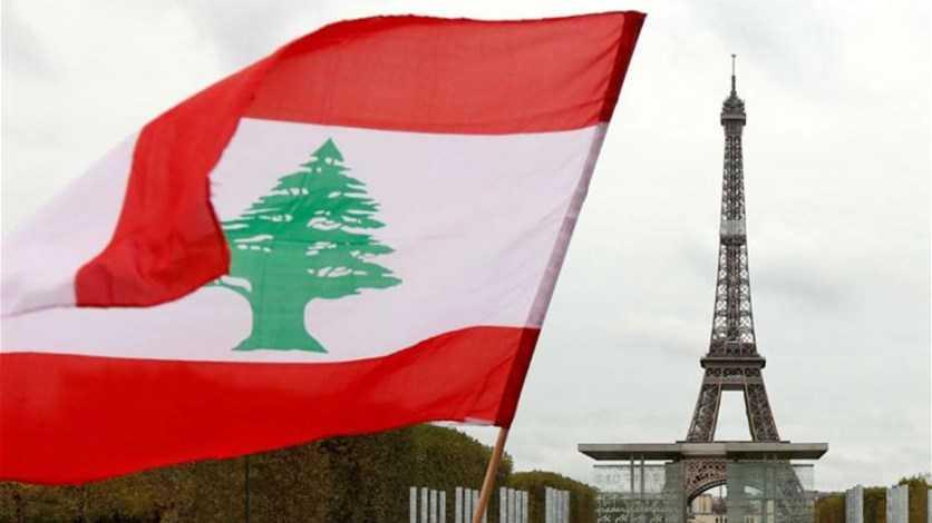 برج إيفل وعلم لبنان